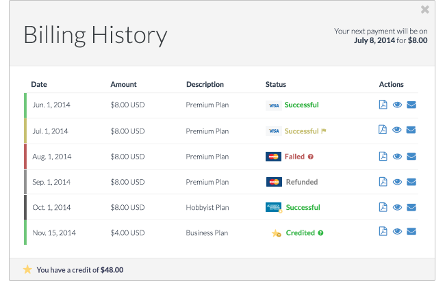 AccountDock Billing History For Your Stripe Appdone The Right Way - Stripe create invoice for service business